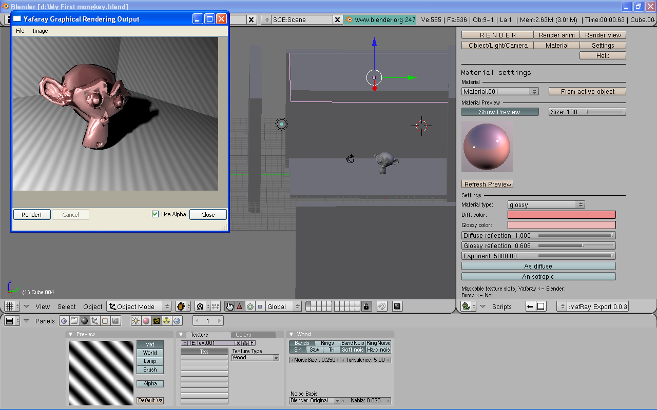 With the blender 256/yafaray build, yafaray feels like it is a part of the main application